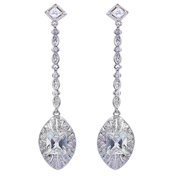 Cassidy Swarovski Princess Drop Earrings - Bella Krystal