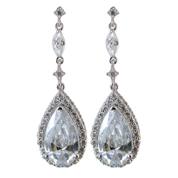 Olympia Crystal Elegant Tear Drop Earrings - Bella Krystal