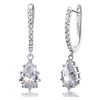 Genesis Sterling Silver Princess Tear Drop Earrings