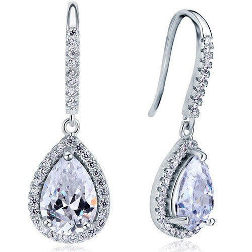 Serenity Sterling Silver Tear Drop Earrings - Bella Krystal