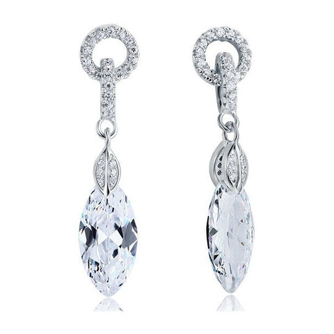 Ariana Sterling Silver Elegant Drop Earrings - Bella Krystal