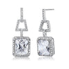 Valeria Clear Sterling Silver Elegant Vintage Earrings