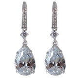 Lavinia Sterling Silver Tear Drop Earrings - Bella Krystal