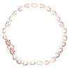 Tessa Crystal Tiger & Off White Fresh Water Pearl Necklace