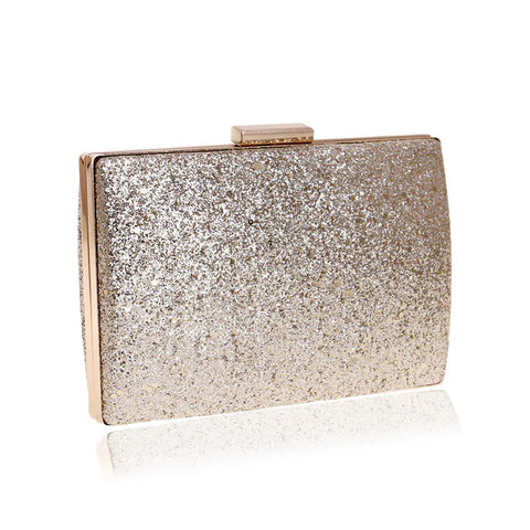 Anthea Gold Shimmer Clutch