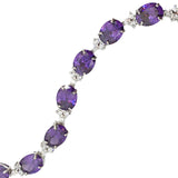 Viola Purple Oval Crystal Bracelet