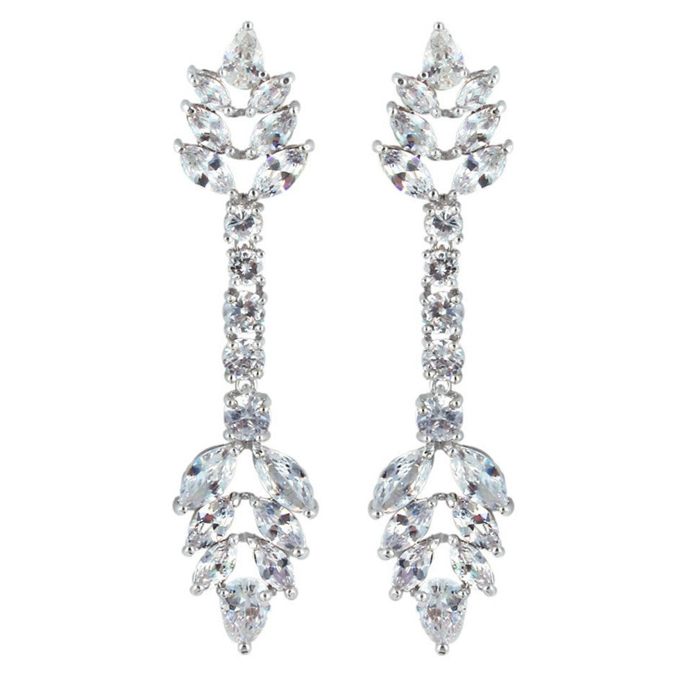 Shelby Crystal Arrow Drop Earrings - Bella Krystal