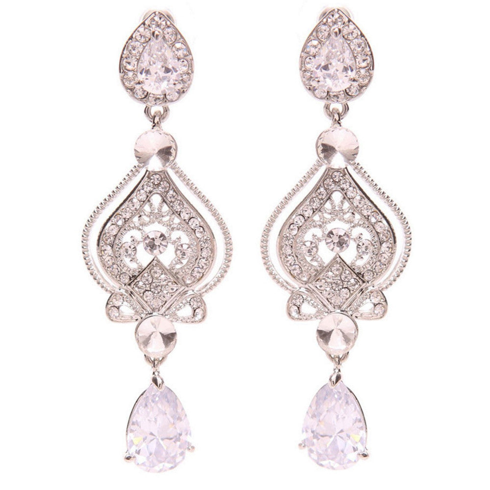 Jayden Crystal Chandelier Earrings - Bella Krystal