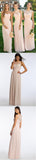 Mismatched Different Styles Chiffon Blush Pink Modern Formal Floor-Length Cheap Bridesmaid Dresses, WG103 - SofitBridal