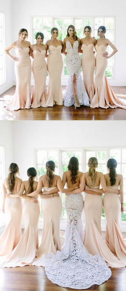 New Arrival Sweet Heart Mermaid Sexy Long Wedding Party Dresses For Maid of Honor, WG113 - SofitBridal