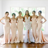 New Arrival Sweet Heart Mermaid Sexy Long Wedding Party Dresses For Maid of Honor, WG113