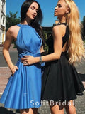 A-Line High Neck Sleeveless Cheap Above Knee Length Homecoming Dresses,STBD0016