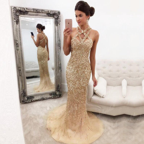 Sparkle Rhinestone Mermaid Prom Dresses, Gorgeous Prom Dresses, Popular Prom Dresses, PD0351