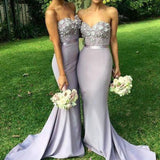 Unique Sweet Heart Sexy Mermaid Affordable Long Wedding Guest Dresses Charming Bridesmaid Dresses, WG36 - SofitBridal