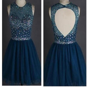 Popular sparkly open back freshman homecoming prom gowns dress,BD0077 - SofitBridal