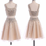 Popular two pieces sparkly unique homecoming prom gown dress,BD0098 - SofitBridal