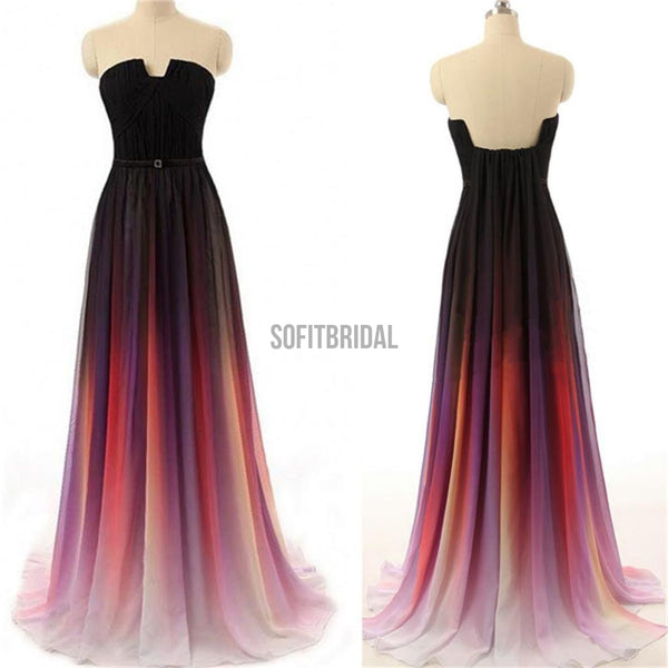 Long Prom Dresses, Gradient Prom Dresses, Party Prom Dresses, Chiffon bridesmaid dress, Cheap Prom Dresses, Popular Prom Dresses, Prom Dresses Online, PD0111 - SofitBridal