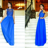 Royal Blue Long Prom Dresses, Affordable Charming Prom Dresses,Custom Prom Dresses