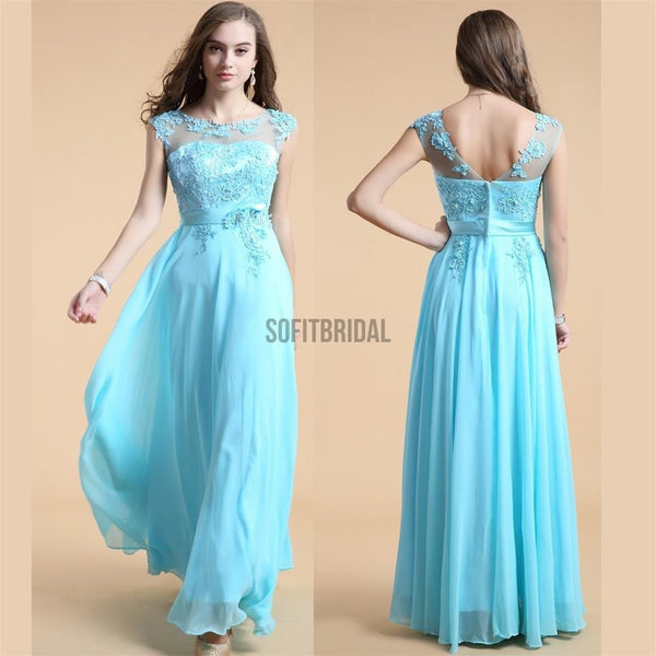Blue Prom Dress, A-line Prom Dress, Pretty Dress, Cheap Prom Dress, Party Prom Dresses, Evening Dresses, Long Prom Dress - SofitBridal