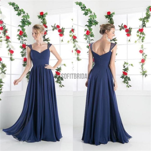 Chiffon Prom Dresses, Cheap Prom Dresses, Simple Bridesmaid Dresses, A-line Prom Dresses, Cocktail Prom Dresses, Evening Dresses, Long Prom Dress - SofitBridal