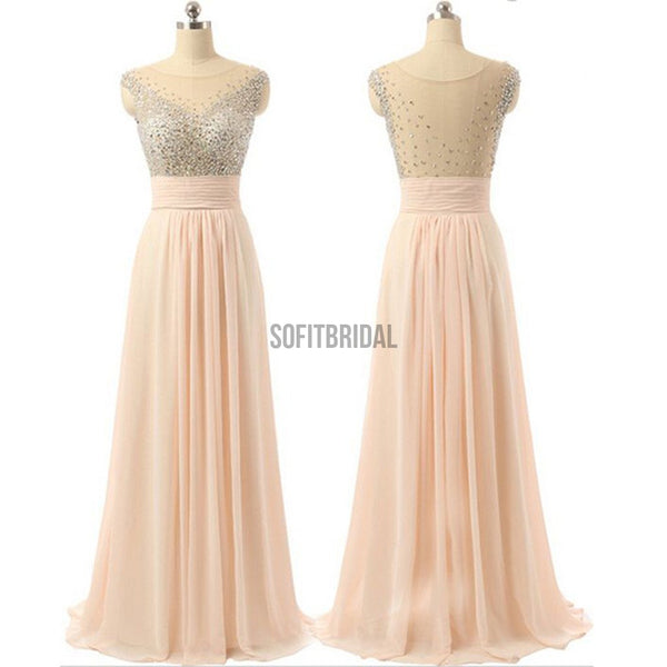 Chiffon Prom Dresses, See-through Back Prom Dresses, Cheap Prom Dresses, Charming Prom Dresses,Party Dresses, Cocktail Prom Dresses, Evening Dresses, Long Prom Dress, Prom Dresses Online - SofitBridal
