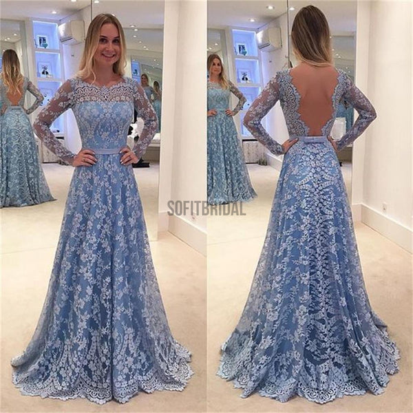 Lace Prom Dresses, Long Sleeves Prom Dresses, A-line Prom Dresses, Formal Prom Dresses, Party Dresses, Cocktail Prom Dresses, Evening Dresses, Long Prom Dress, Prom Dresses Online,PD0182 - SofitBridal