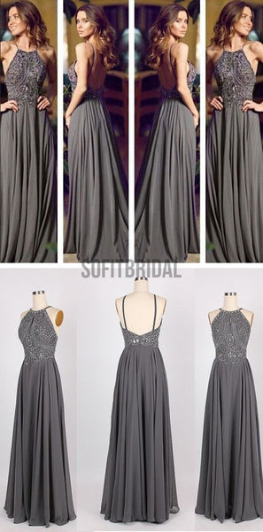 Long Prom Dresses, Gray Prom Dresses, Chiffon Prom Dresses, Popular Prom Dresses, Cheap Prom Dresses, Evening Prom Dresses, PD0032 - SofitBridal