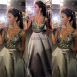 Charming Prom Dress, V-Neck Prom Dress, Sexy Prom Dress, Popular Prom Dress, A-Line Evening Dress, Sparkly Prom Dresses, Custom Dresses, Long Prom Dress - SofitBridal