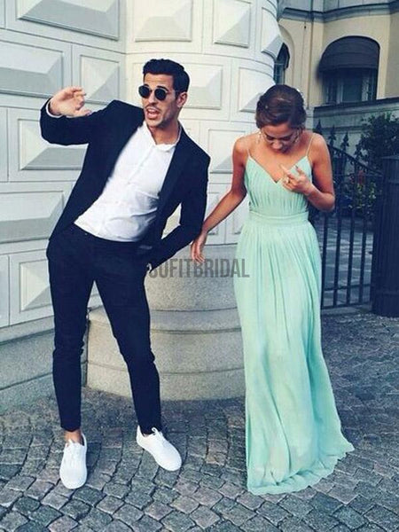 75717b0e0e1840 Cheap Simple Chiffon Open Back Cheap Tiffany Blue Prom Dress, Junior Sexy  Long Wedding Party