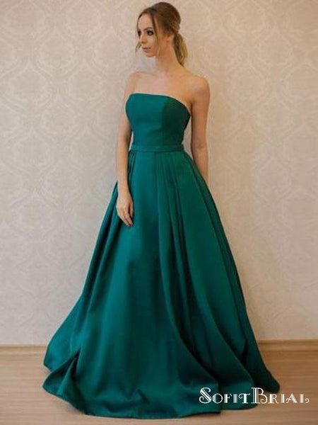 826280ff7dad8 Simple Fashion Strapless Emerald Green A line Long Evening Prom Dresses,  TYP0160 Simple Fashion Strapless Emerald Green A line Long Evening Prom ...