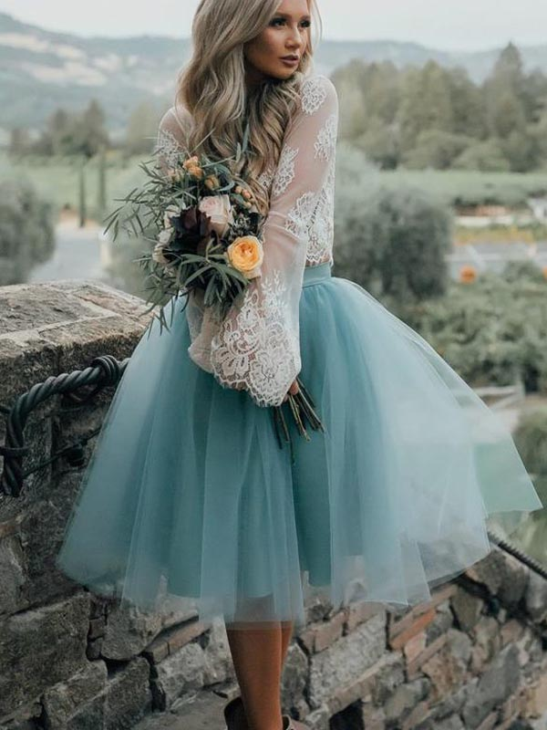 Long Sleeve Lace Short Turquoise Homecoming Prom Dresses, Affordable Short Party Prom Sweet 16 Dresses, Perfect Homecoming Cocktail Dresses, CM563