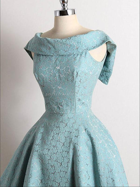 Scoop Lace Princess Ball Dress, Elegant Zipper-closure Homcoming Dresses, SEME213