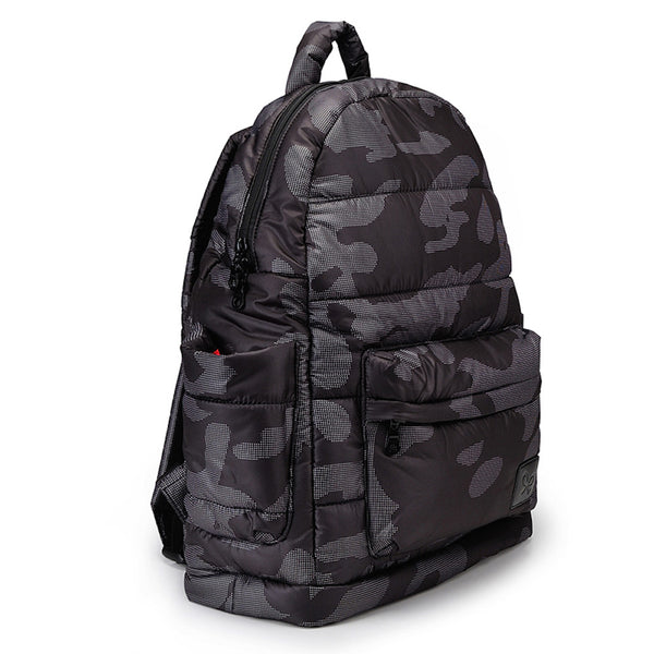 Backpack Baby Diaper Bag - Black Camouflage L