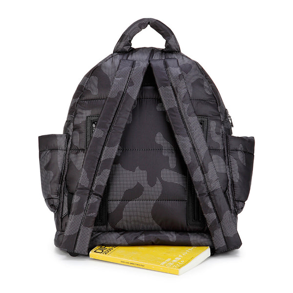 Backpack Baby Diaper Bag - Black Camouflage M