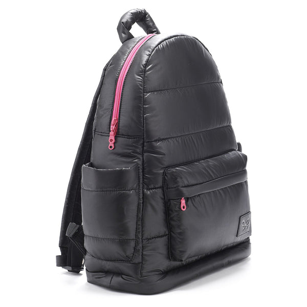 Backpack Baby Diaper Bag - Black and Pink L