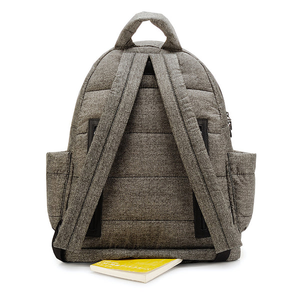 Backpack Baby Diaper Bag - Heather Gray L