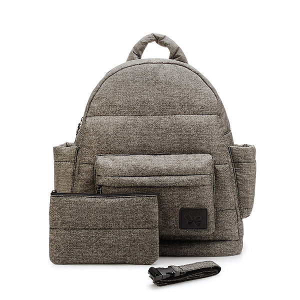 Backpack Baby Diaper Bag - Heather Gray M