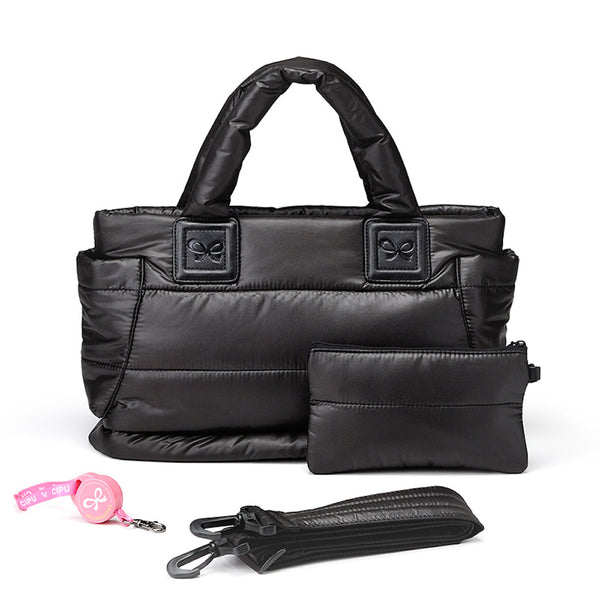 Tote Baby Diaper Bag - Black M