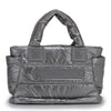 Tote Baby Diaper Bag - Metallic Gray M