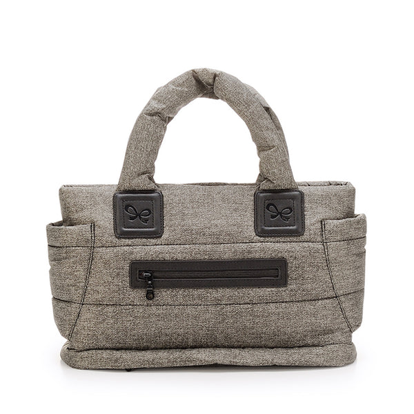 Tote Baby Diaper Bag - Heather Gray M