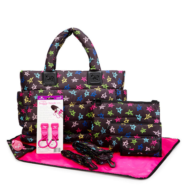 Tote Baby Diaper Bag - Rock Stars L