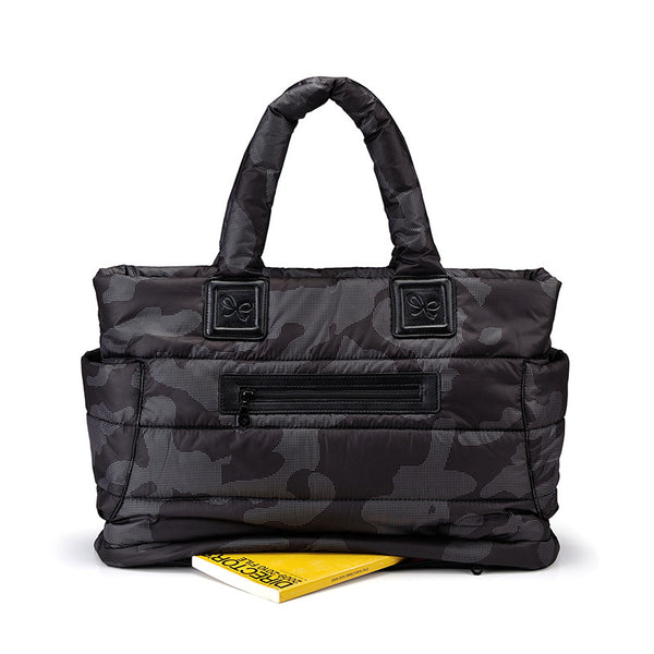 Tote Baby Diaper Bag - Black Camouflage L