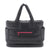 Tote Baby Diaper Bag - Black with Pink Lining L