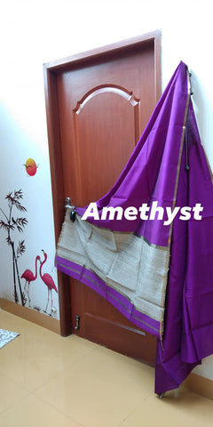 Jewel Toned Maheshwaris - Amethyst