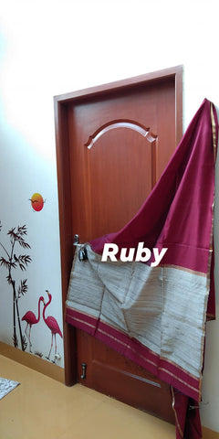 Jewel Toned Maheshwaris - Ruby
