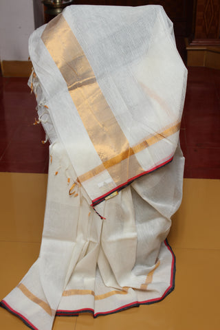 Onam - The off-white Collection : Linen Silk - Bright White