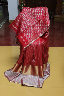 Maheshwari - Passionate red- gold and silver