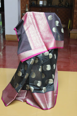 Benaras Weaves - Cement grey and pink
