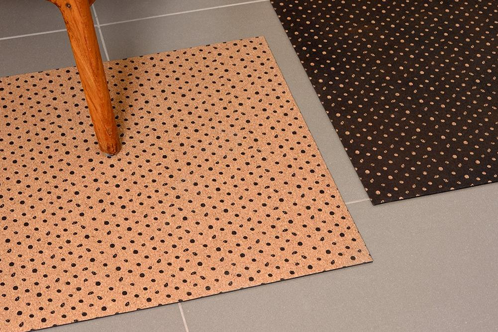 POLKA BLACK DOTS PATTERN RUG
