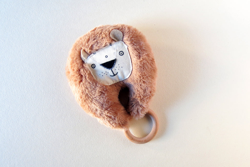 Teether Ring | brown lion